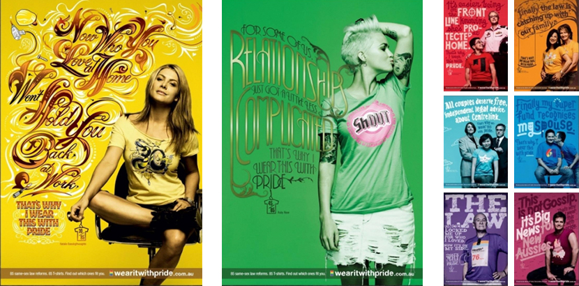 Australia Wear it with Pride Posters 3x1