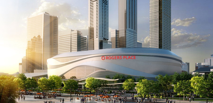 Edmonton Arena District Concept Rendering